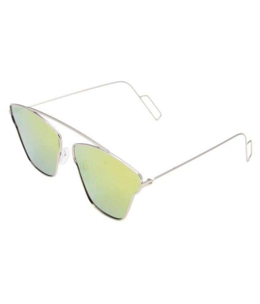 SANJU HUB Yellow Aviator Sunglasses ( SUN_17 )