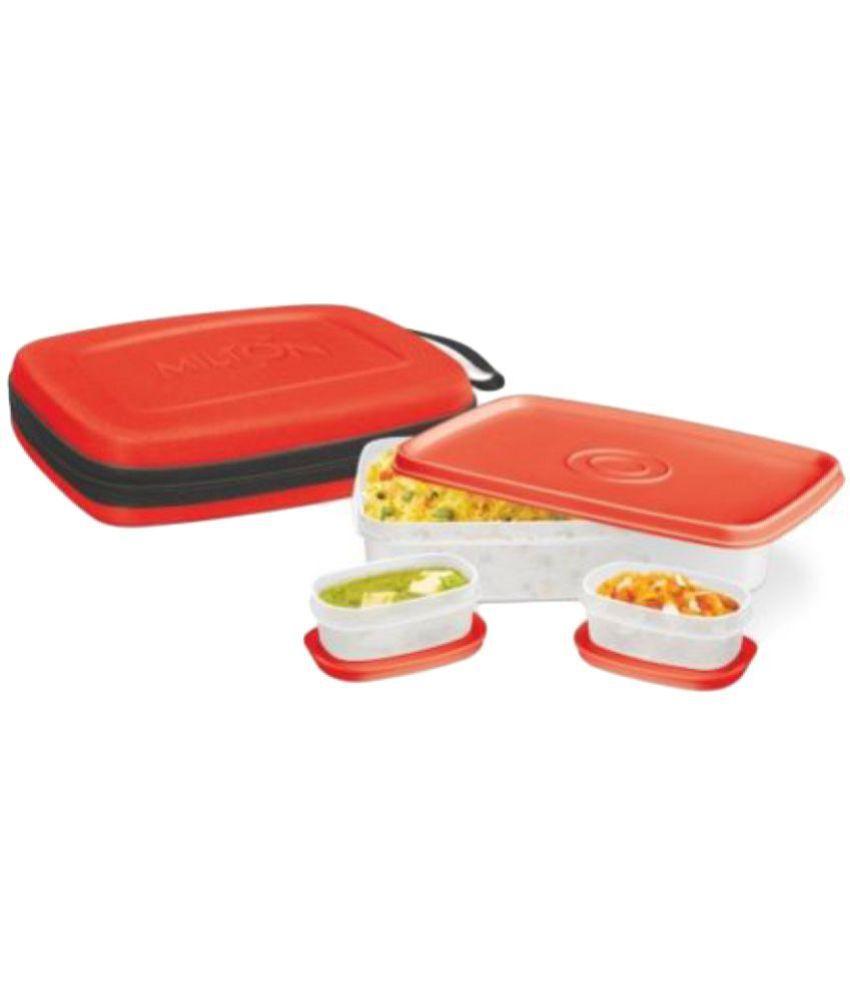 Milton Red Virgin Plastic Lunch Box