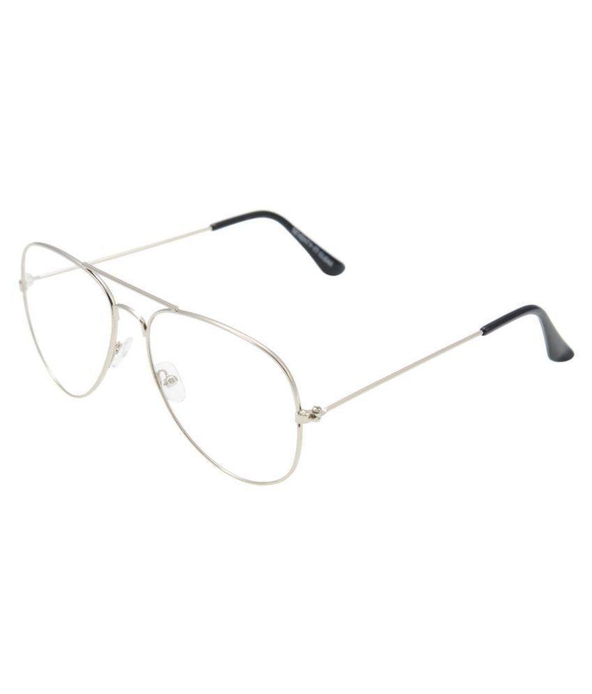SANJU HUB Clear Aviator Sunglasses ( SUN_26 )