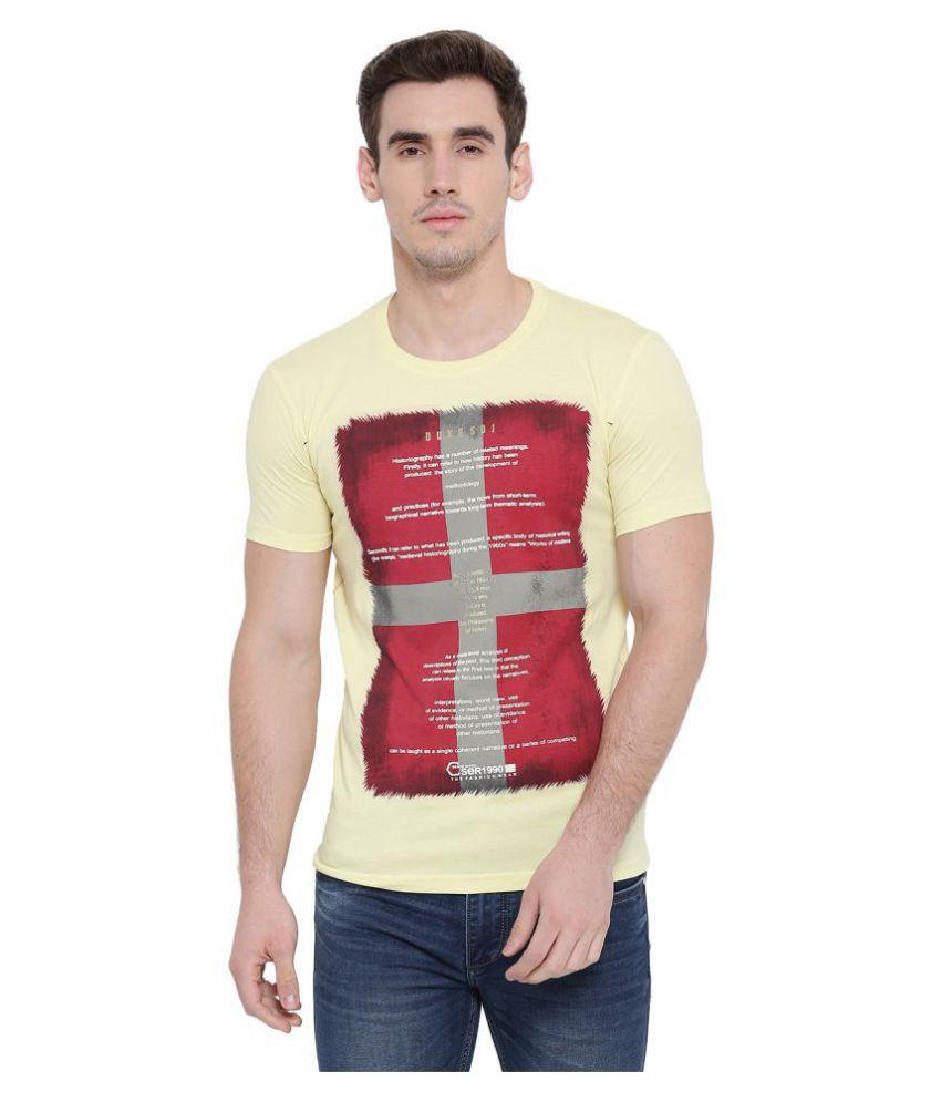 Duke Yellow Half Sleeve T-Shirt
