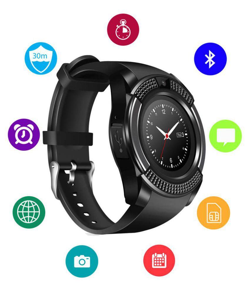 JM New V8 Black Colour Smart Watch