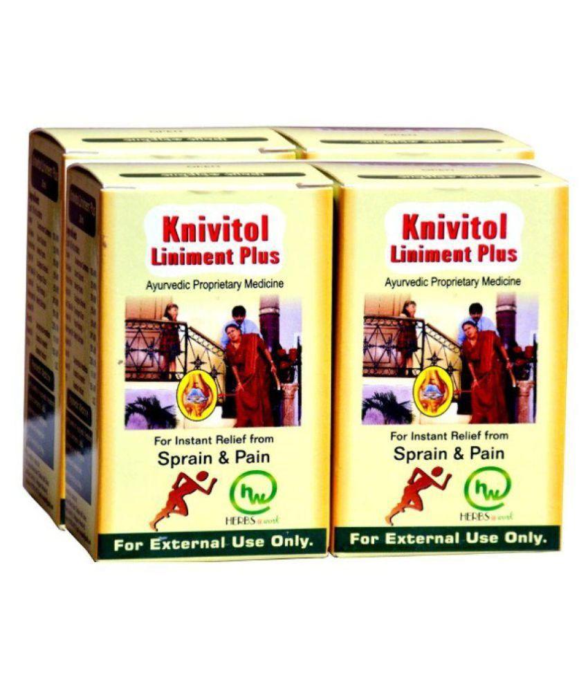 Jiwadaya Knivitol Liniment Plus Ayurvedic Pain Relief Pack Of 4