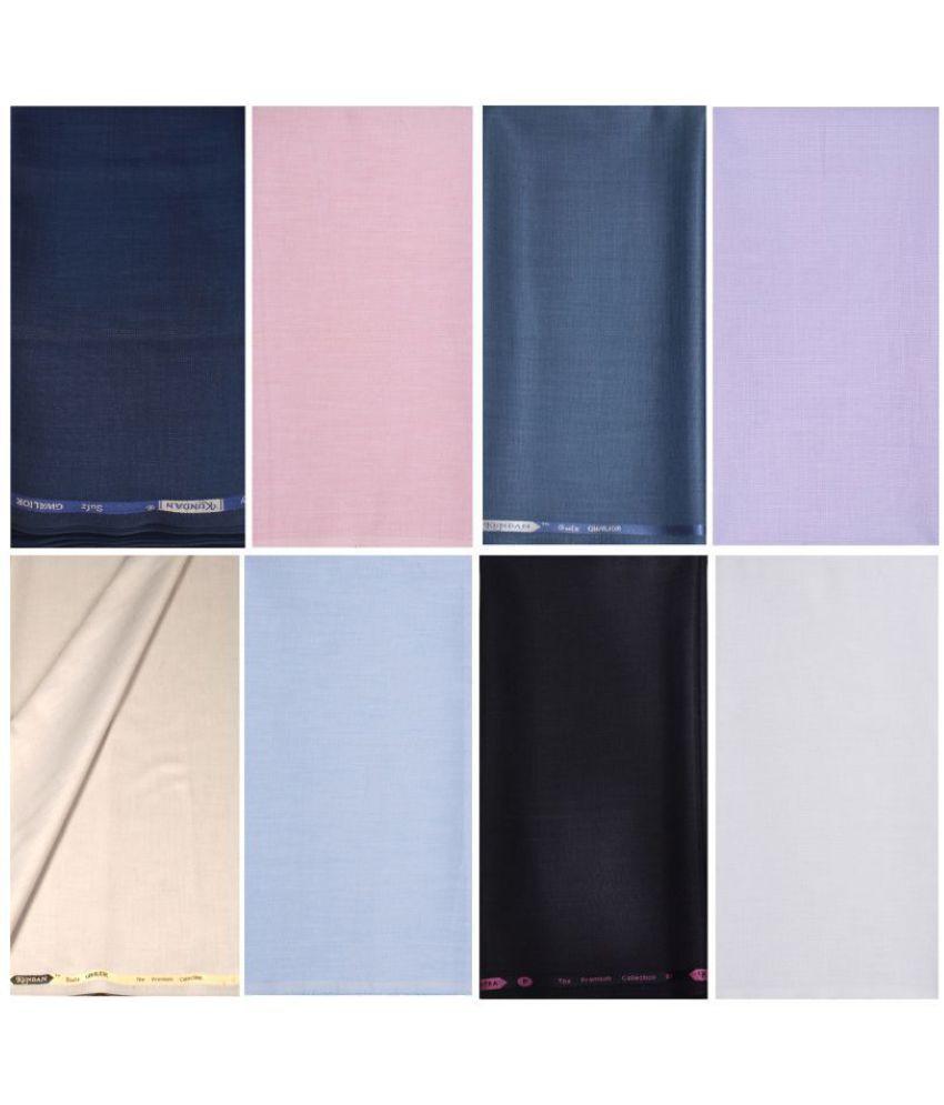 KUNDAN SULZ GWALIOR Multi Poly Viscose Unstitched Shirts & Trousers ( 4 Pant & 4 Shirt Pieces )