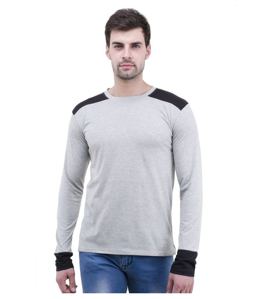 Lime Grey Full Sleeve T-Shirt