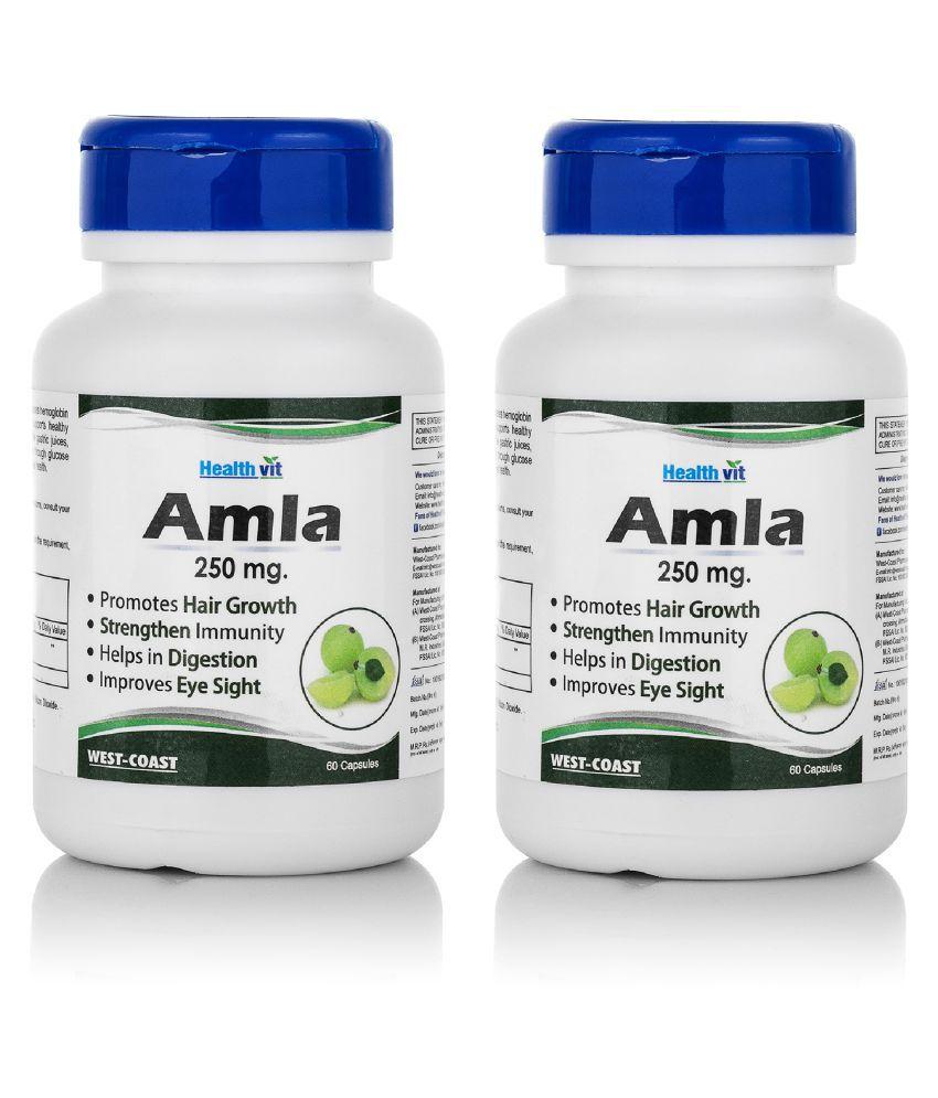 HealthVit Amda Amla Powder 250mg Capsule 60 no.s Pack Of 2