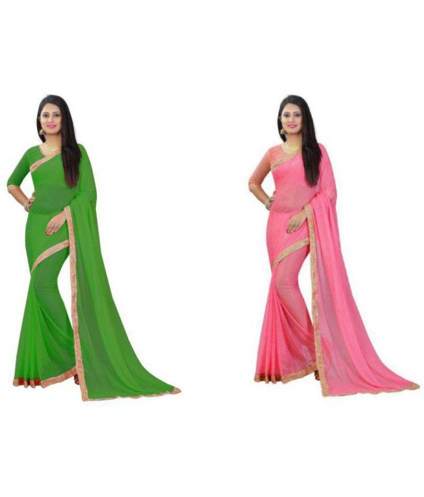 HansCreation Multicoloured Matka Silk Saree Combos