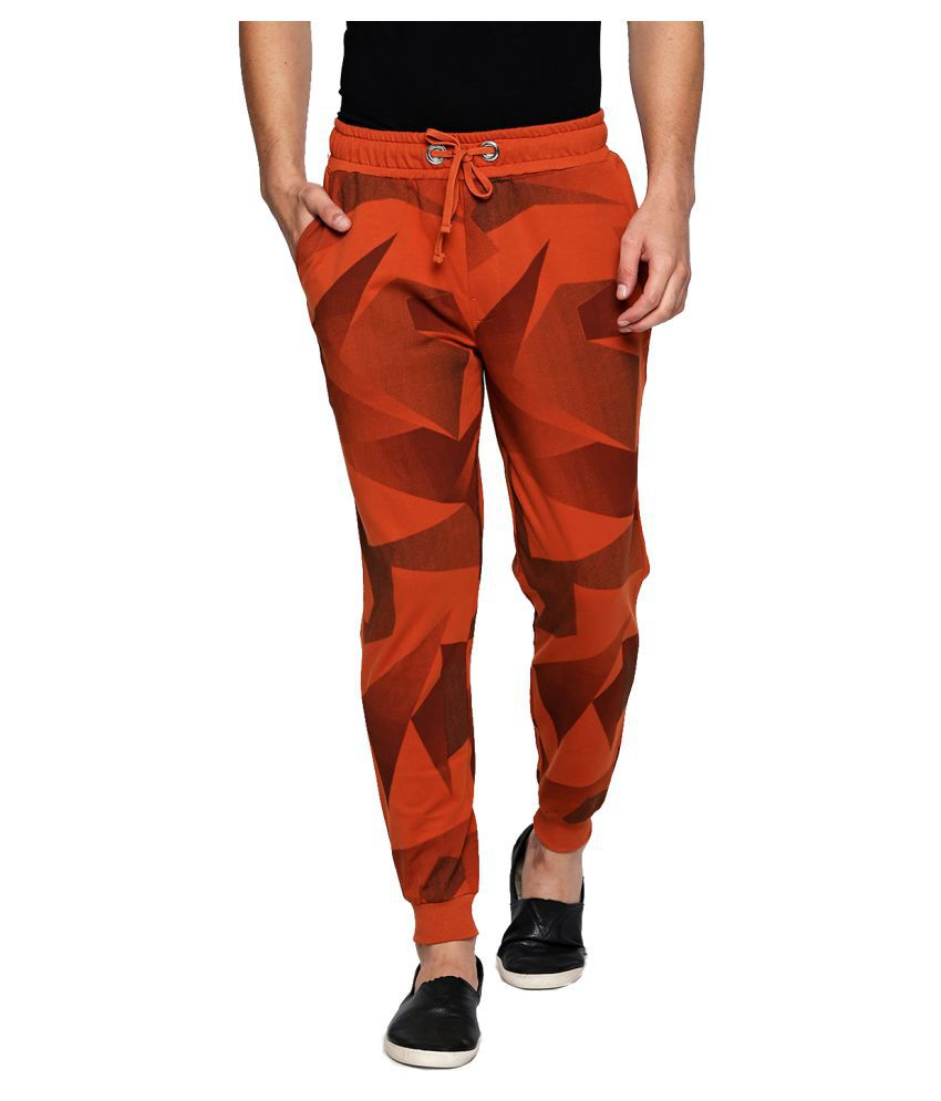 Cult Fiction Brown Regular -Fit Flat Joggers