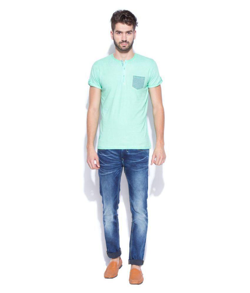 Mufti Green Half Sleeve T-Shirt