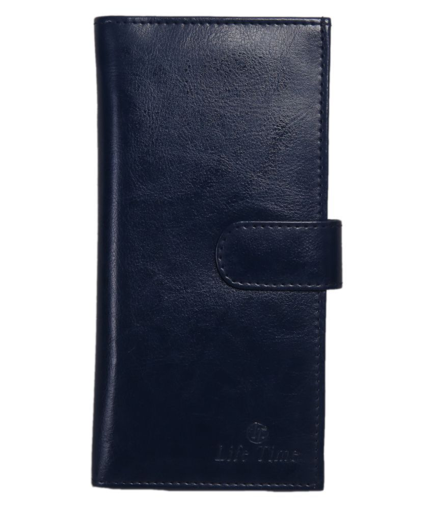 Life Time Blue Faux Leather Handheld