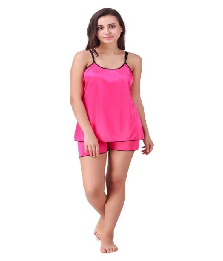 Lagotto Satin Nightsuit Sets - Pink
