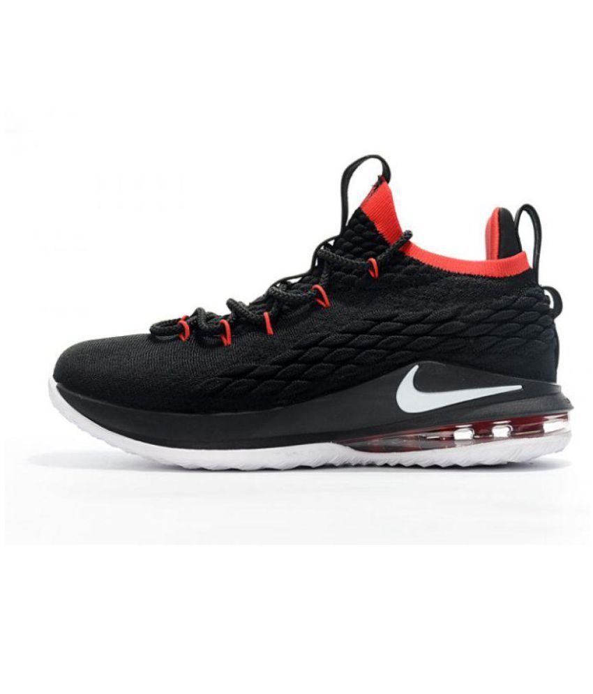 pretty nice ec428 515c9 Nike LeBron 15 Black Basketball Shoes