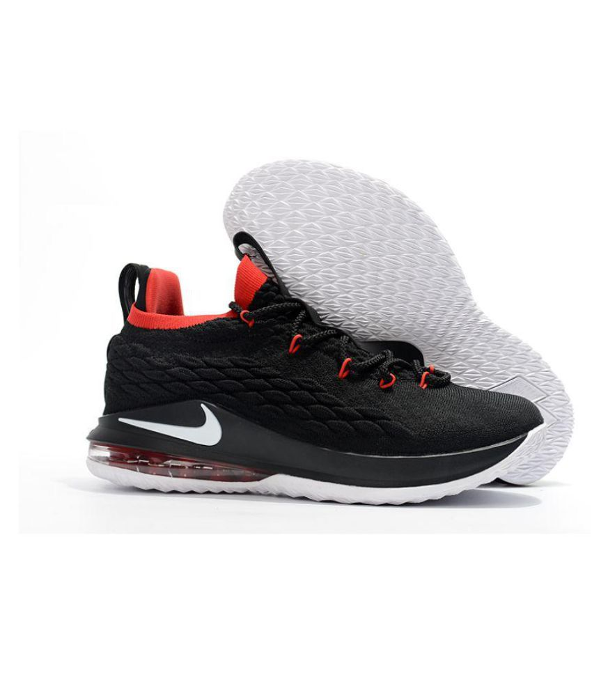 pretty nice 83e44 a5aa5 Nike LeBron 15 Black Basketball Shoes