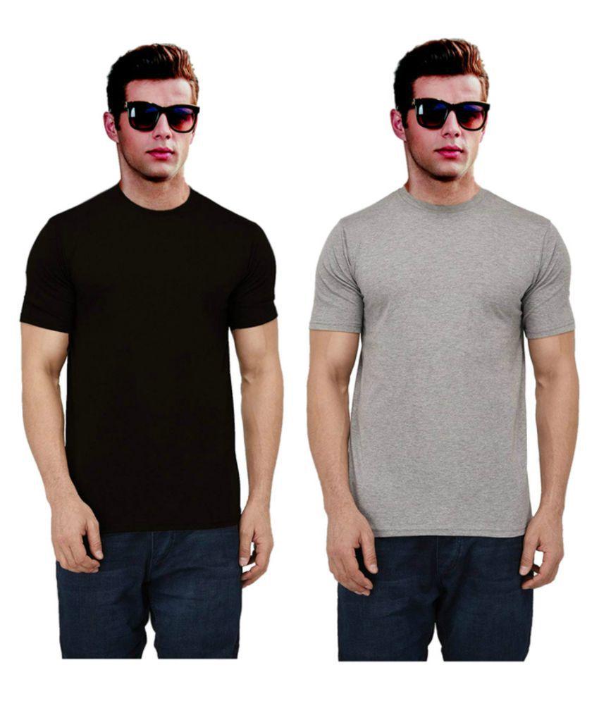 Ritzees Multi Half Sleeve T-Shirt Pack of 2