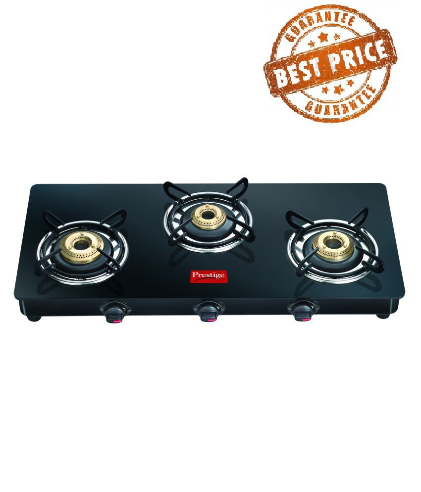 Prestige Marvel 03 Burner Glass Manual Gas Stove ...