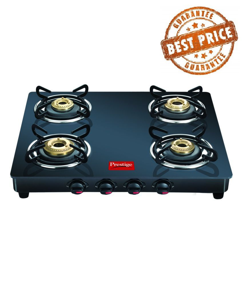 45f20bc33f458b Prestige Marvel Black 4 Burner Glass Manual Gas Stove Price in India - Buy  Prestige Marvel Black 4 Burner Glass Manual Gas Stove Online on Snapdeal