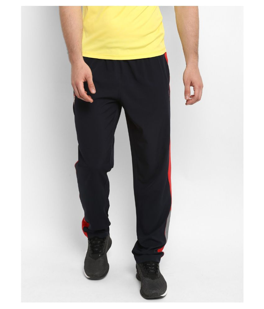 Alcis Womens Solid Navy Track Pant