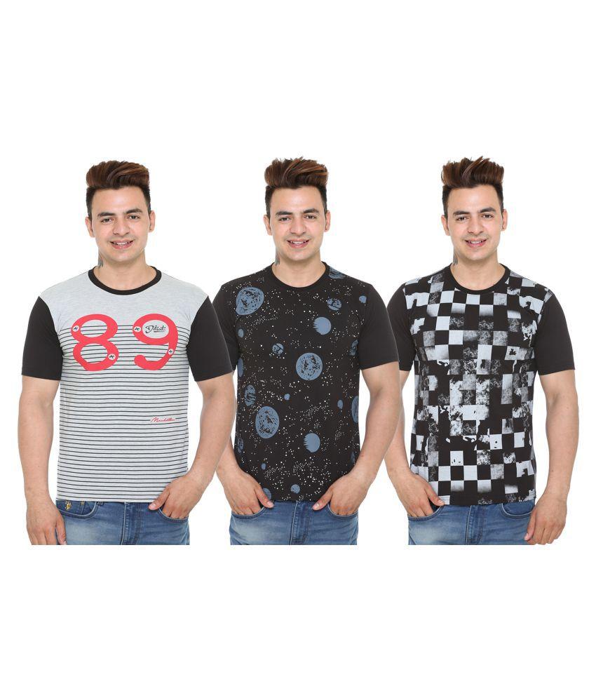 Shaun Blue Half Sleeve T-Shirt Pack of 3