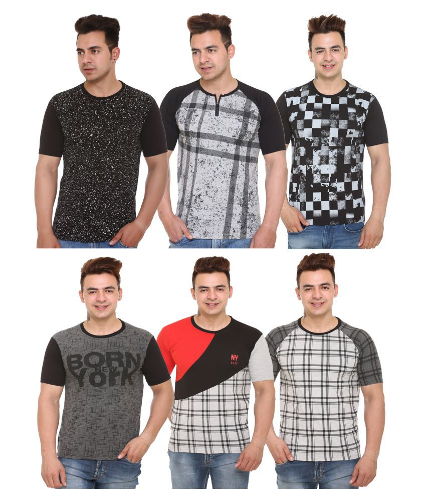 Shaun Blue Half Sleeve T-Shirt Pack of 6