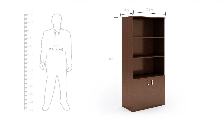 Lumiere 6 Feet Bookshelf Showcase