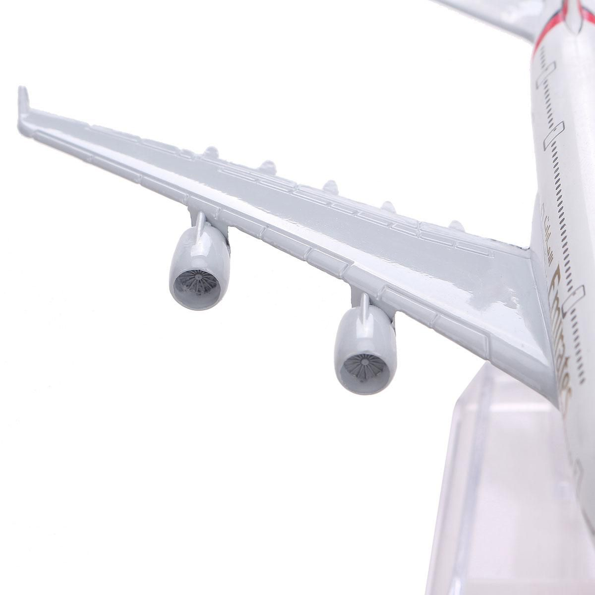 New 16cm Diecast Model Airbus380 Emirates Airlines A-380 Aircraft Aeroplane