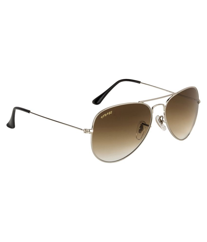 Voyage Brown Aviator Sunglasses ( 3025 )
