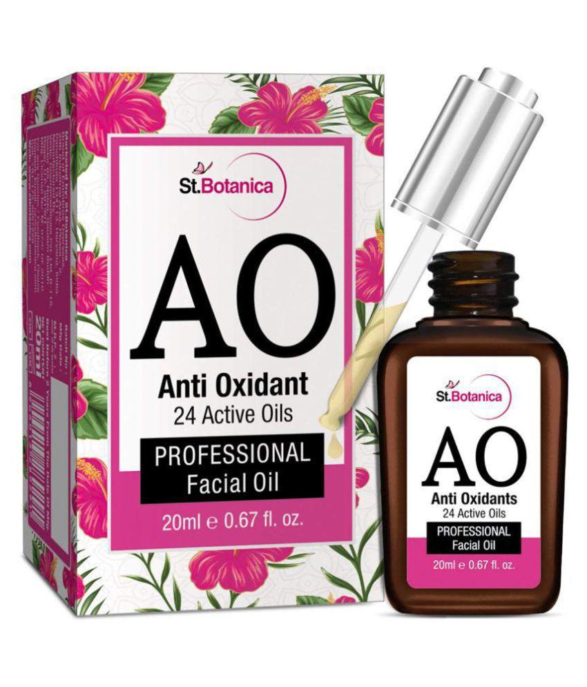 St Botanica Anti Oxidant (24 Active Oils) Professional Facial Oil - Facial  Glow, Anti-Ageing with Retinol & Argan Face Serum 20 ml