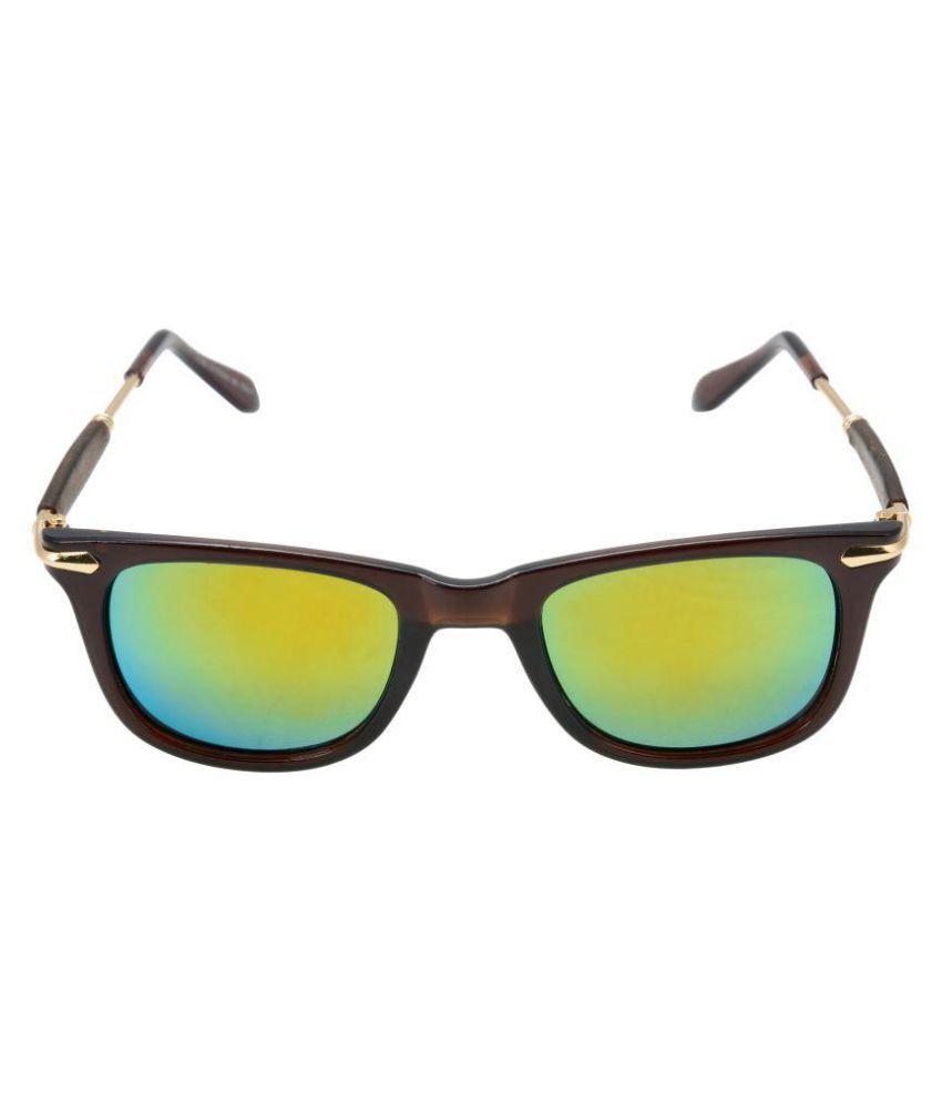 SANJU HUB Green Aviator Sunglasses ( SUN_52 )