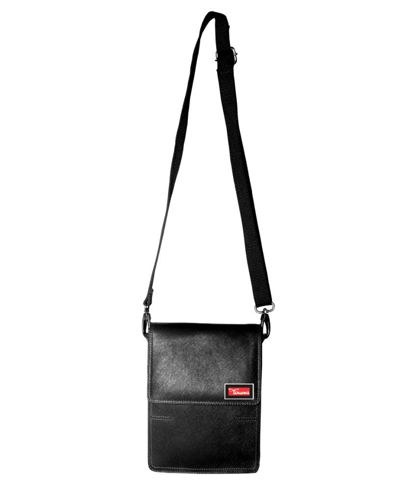 Tamanna LSBU17-TM_3 Black Leather Casual Messenger Bag
