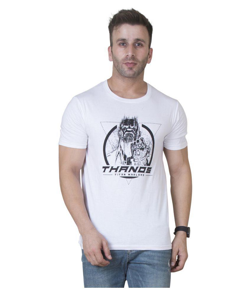 3c715a75074 Veirdo White Half Sleeve T-Shirt - Buy Veirdo White Half Sleeve T-Shirt  Online at Low Price - Snapdeal.com