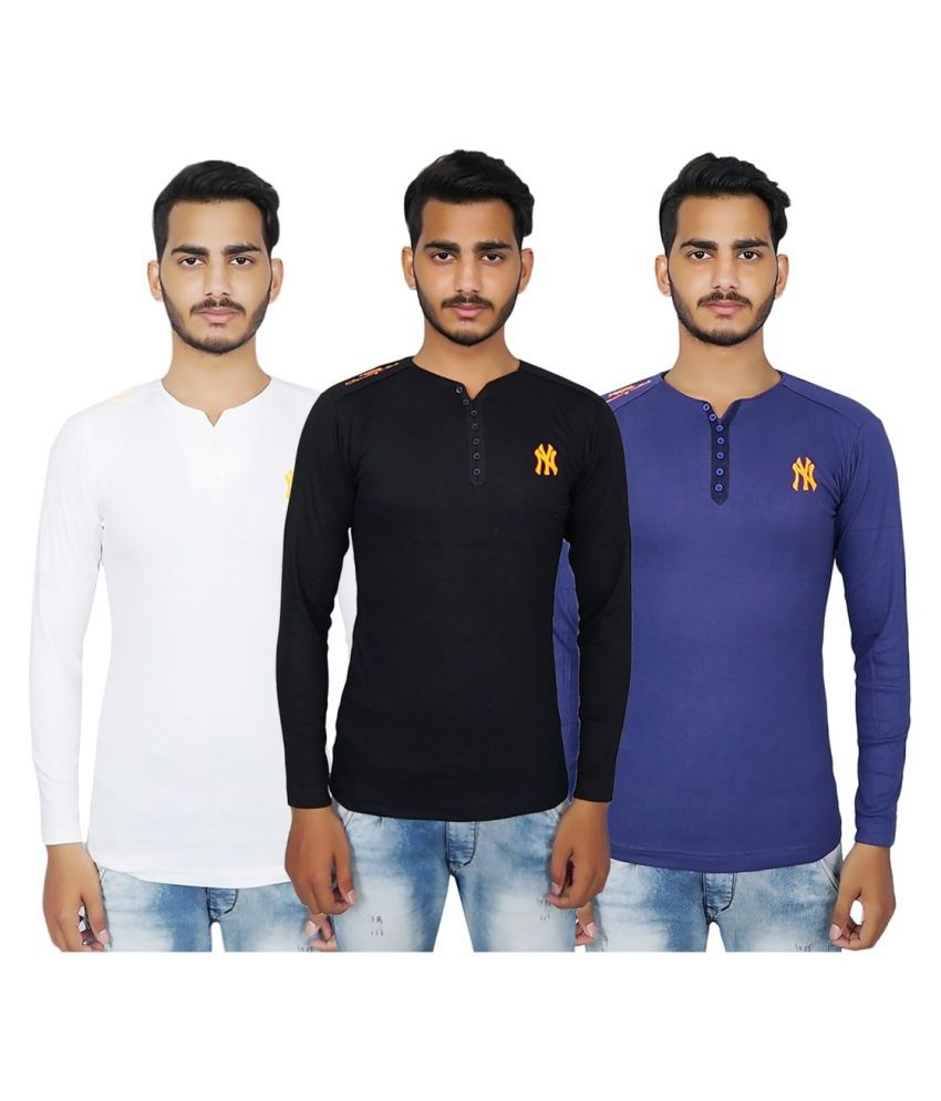 MSE Multi Full Sleeve T-Shirt Pack of 3
