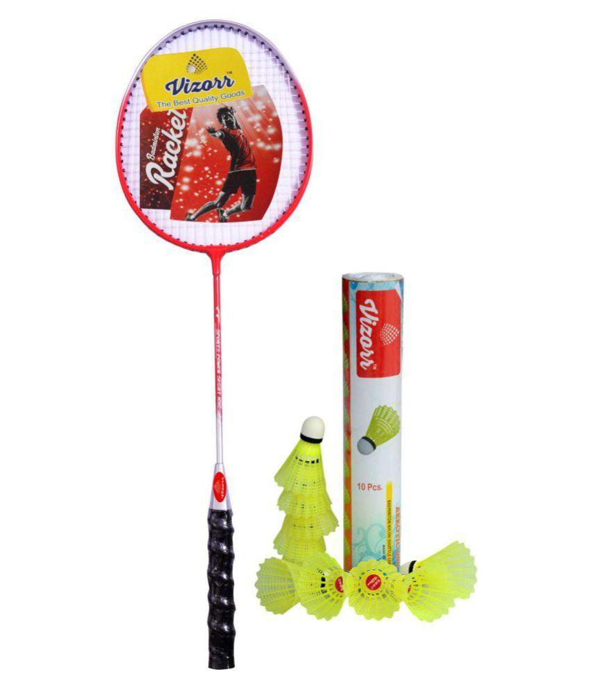 Vizorr KK-1015 Badminton Racquet Combo with Aerotic-006 Nylon Shuttlecock (10pcs.)