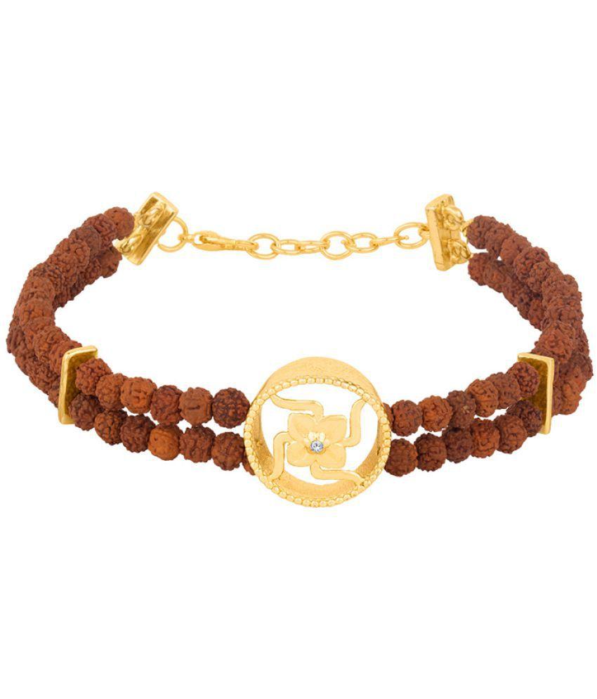 Voylla Mahadev Circular Framed Swastika Charm Bracelet Gift for Him, Boy, Men, Father, Brother, Boyfriend, Party Wear, Daily Wear,Festive Wear