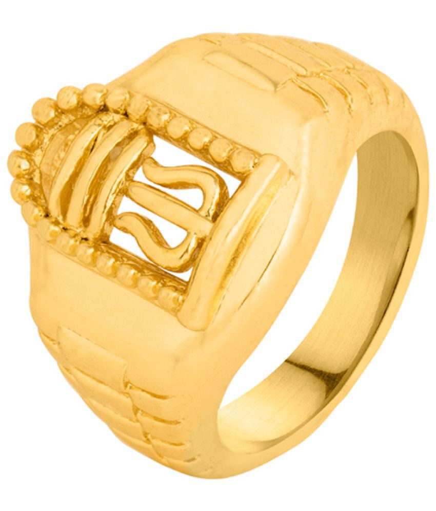 Voylla Earthy Dreamer Mahadev Ring Gift for Him, Boy, Men, Father, Brother, Boyfriend, Party Wear, Daily Wear,Festive Wear