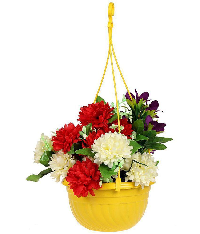243 & Klassic Multicolor Set Of 4 Hanging Planter/Flower Pot/Planter/Plant Grow Bag/Garden Planting Bag/Planting Pot/Hanging Pot/Planter Stand - 7.7 Inch
