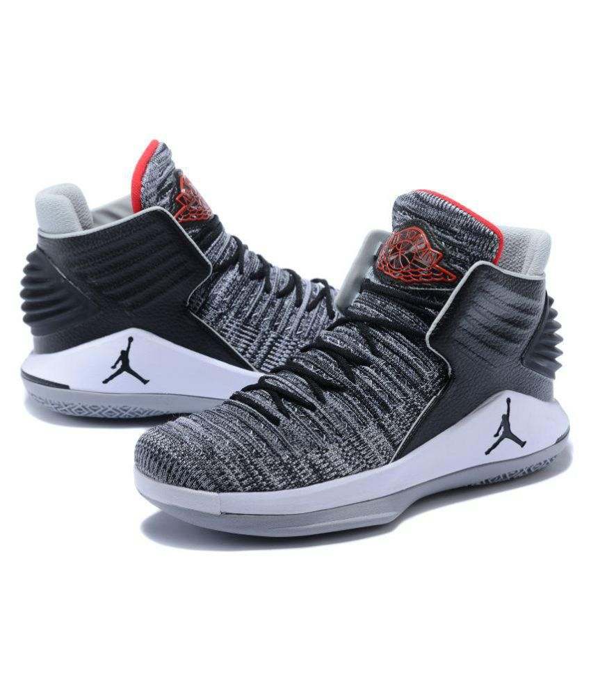ce723653251 Nike AIR JORDAN 32 Gray Basketball Shoes - Buy Nike AIR JORDAN 32 Gray  Basketball Shoes Online at Best Prices in India on Snapdeal