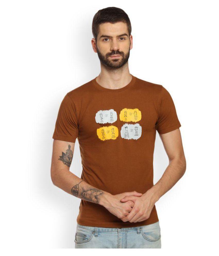 Tantra Brown Half Sleeve T-Shirt