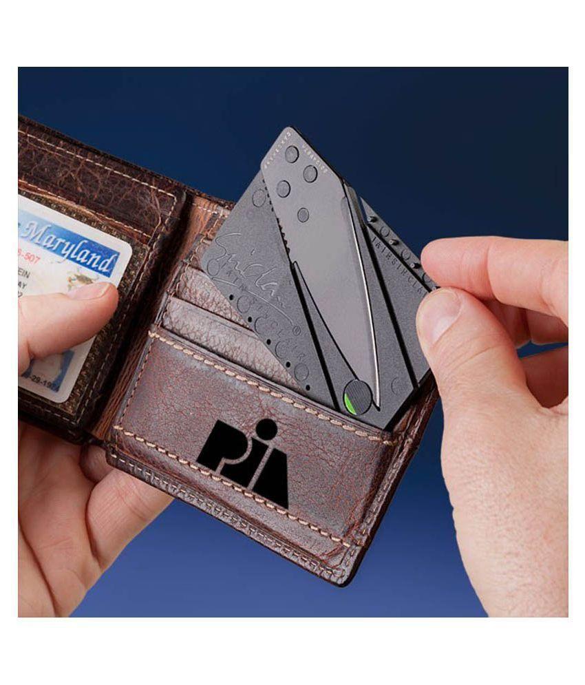 Supreme Credit Card Sharp Folding Safety Portable Pocket Wallet Knife