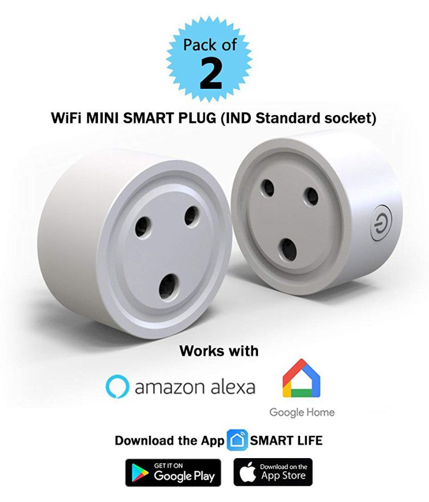 Lumisynch Wi-Fi Smart Plug Socket Switch |10 Ampere|Voice Control works  with Alexa, Google Home Assistant and IFTTT compatible | Wireless and App