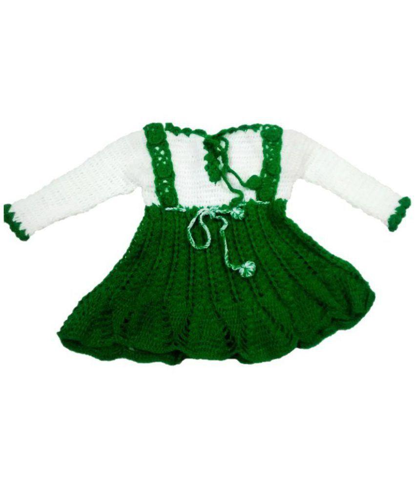 c700a657d New Jain Traders - Hand Made Crochet Woolen Designer Frock -- Baby Girls  (2-3 Years
