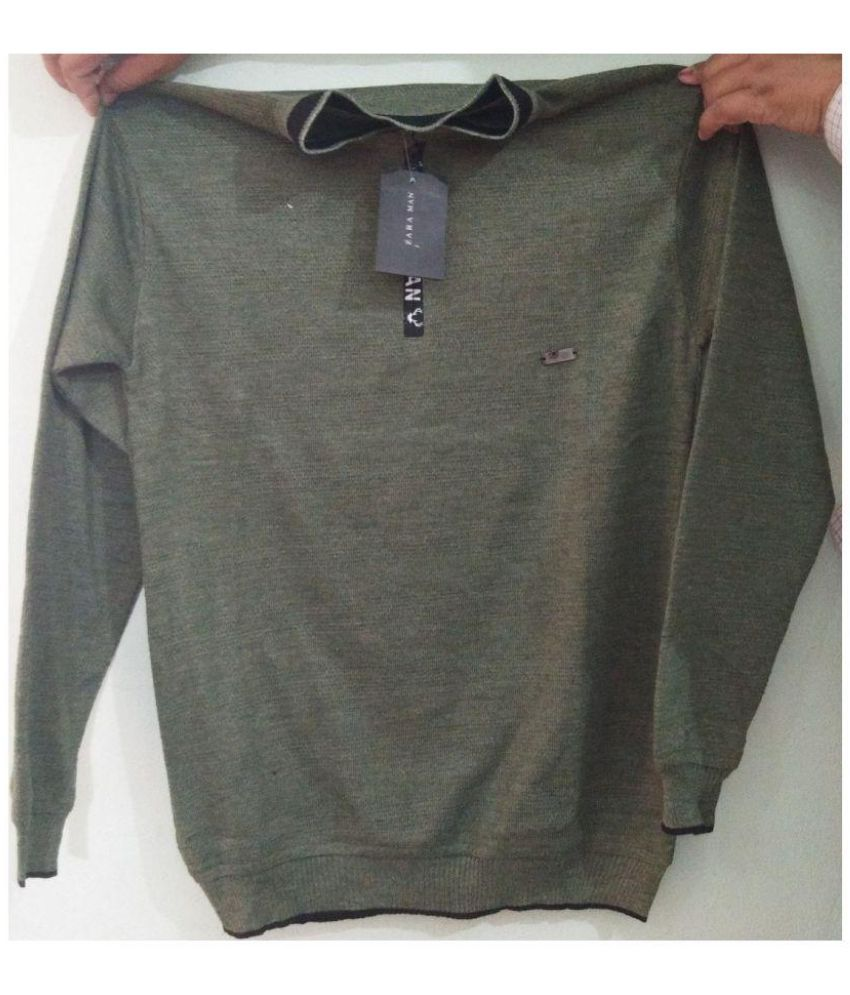 Sai Garments Grey Woolen T-Shirt