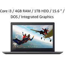 "Lenovo Ideapad 320E (Core i3 (6th Gen) / 4GB RAM / 1TB HDD / 15.6 "" / DOS / Integrated Graphics) (80XH01GEIN)Onyx Black"