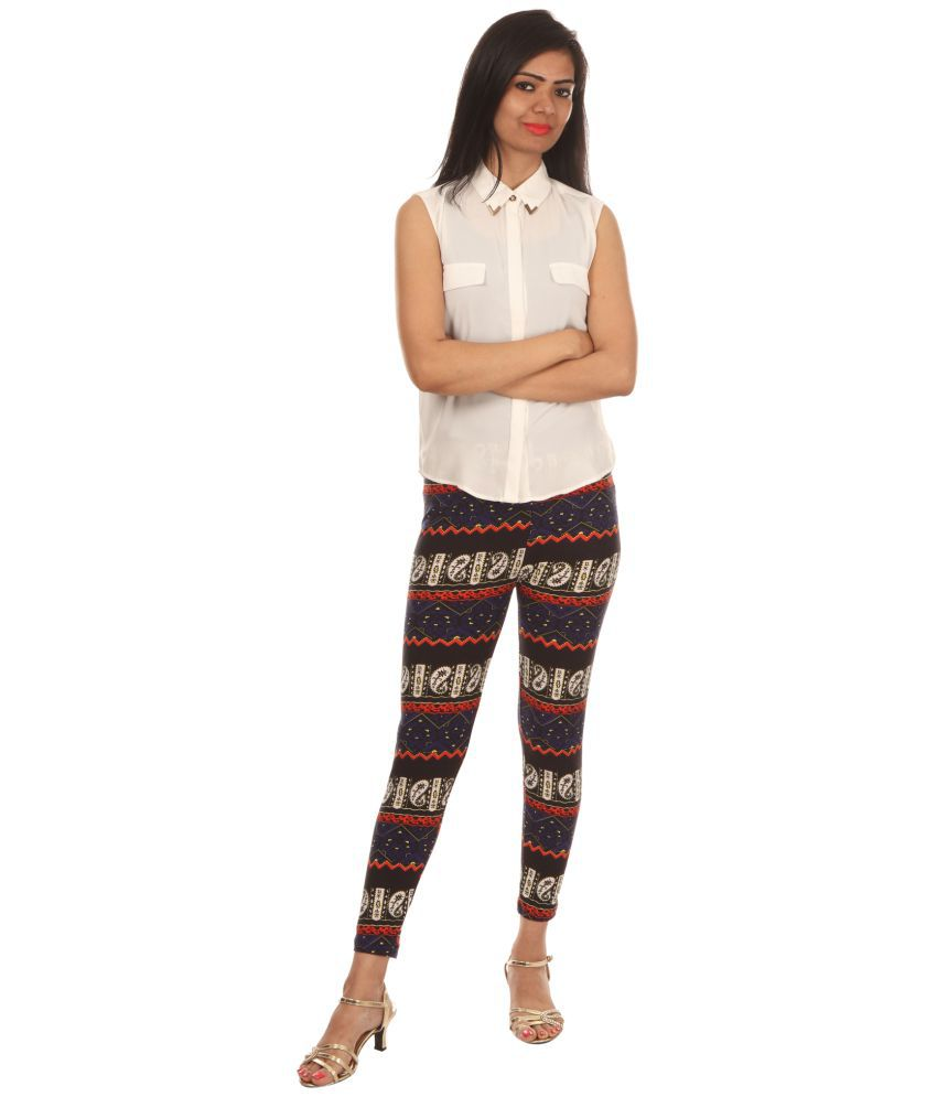 Fit 'N' You Polyester Jeggings - Grey