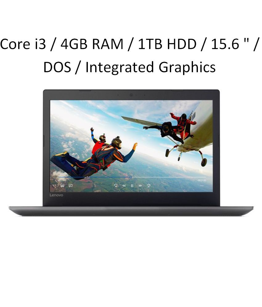 Lenovo Ideapad 320E  Core i3  6th Gen  / 4 GB RAM / 1TB HDD / 15.6   / DOS / Integrated Graphics   80XH01GEIN Onyx Black