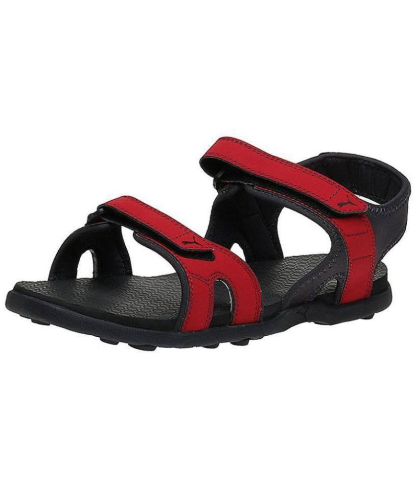 cb52b886f48 Puma Red Faux Leather Floater Sandals - Buy Puma Red Faux Leather Floater  Sandals Online at Best Prices in India on Snapdeal