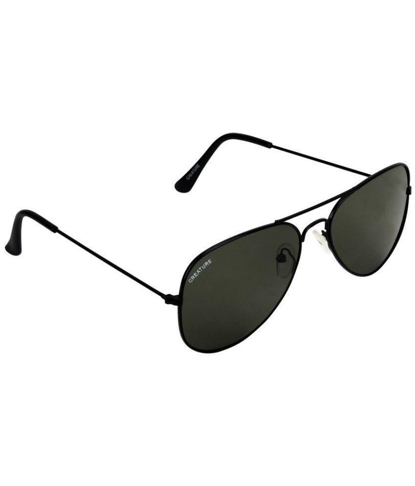 Creature - Black Pilot Sunglasses ( SUN-152 )