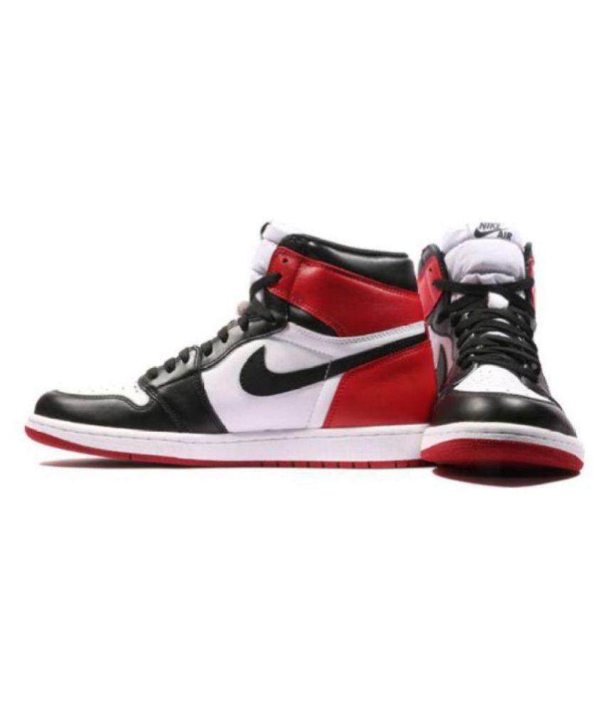 71d24a0babe5 Nike Air Jordan 1 Retro Black Toe Multi Color Basketball Shoes - Buy ...