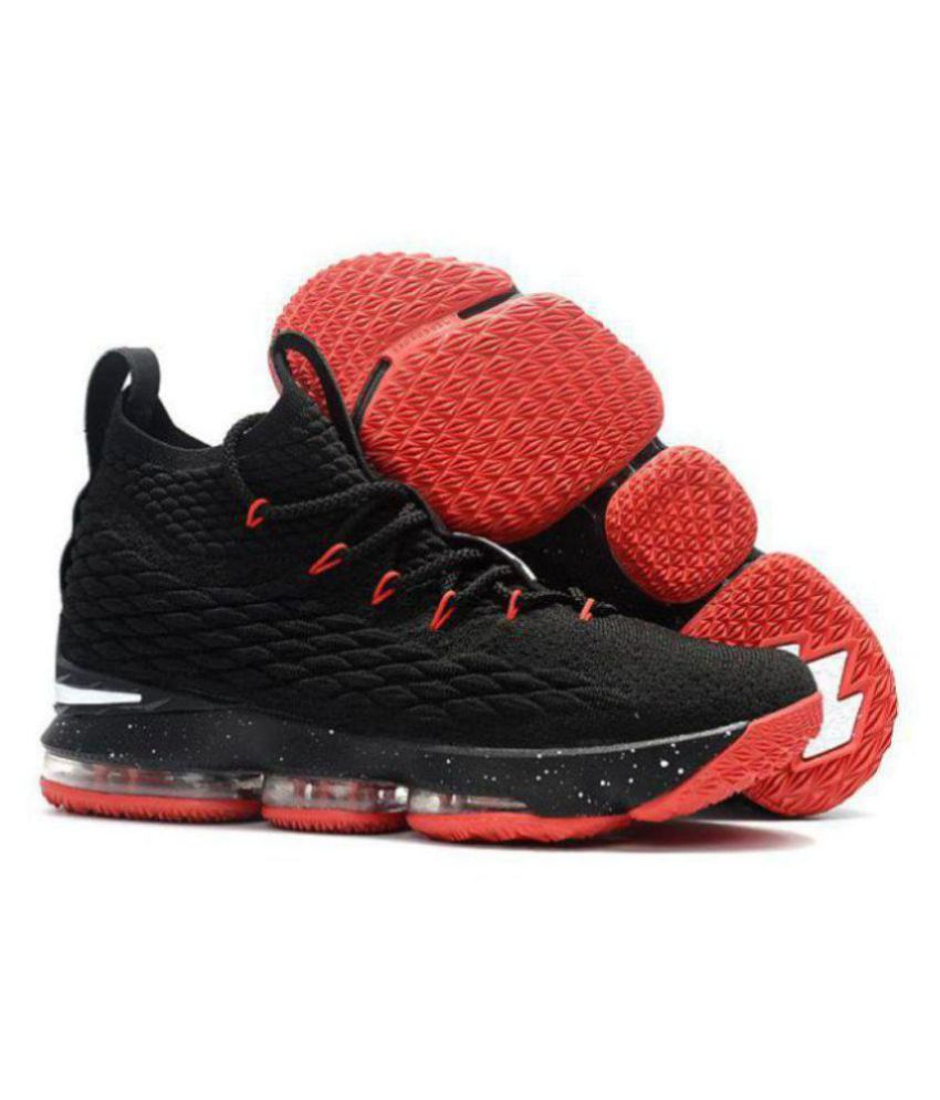 70426a1688a Nike LEBRON X15 Black Basketball Shoes - Buy Nike LEBRON X15 Black  Basketball Shoes Online at Best Prices in India on Snapdeal