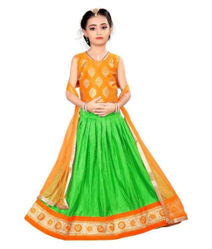 13ac69226 Arrow Fashion Girl Cotton Silk Lehenga Choli - Buy Arrow Fashion Girl  Cotton Silk Lehenga Choli Online at Low Price - Snapdeal