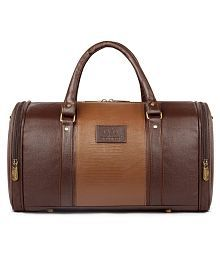 108d8e43f Quick View. The Clownfish Brown Solid Duffle Bag/PU Leather Bag Luggage Bag