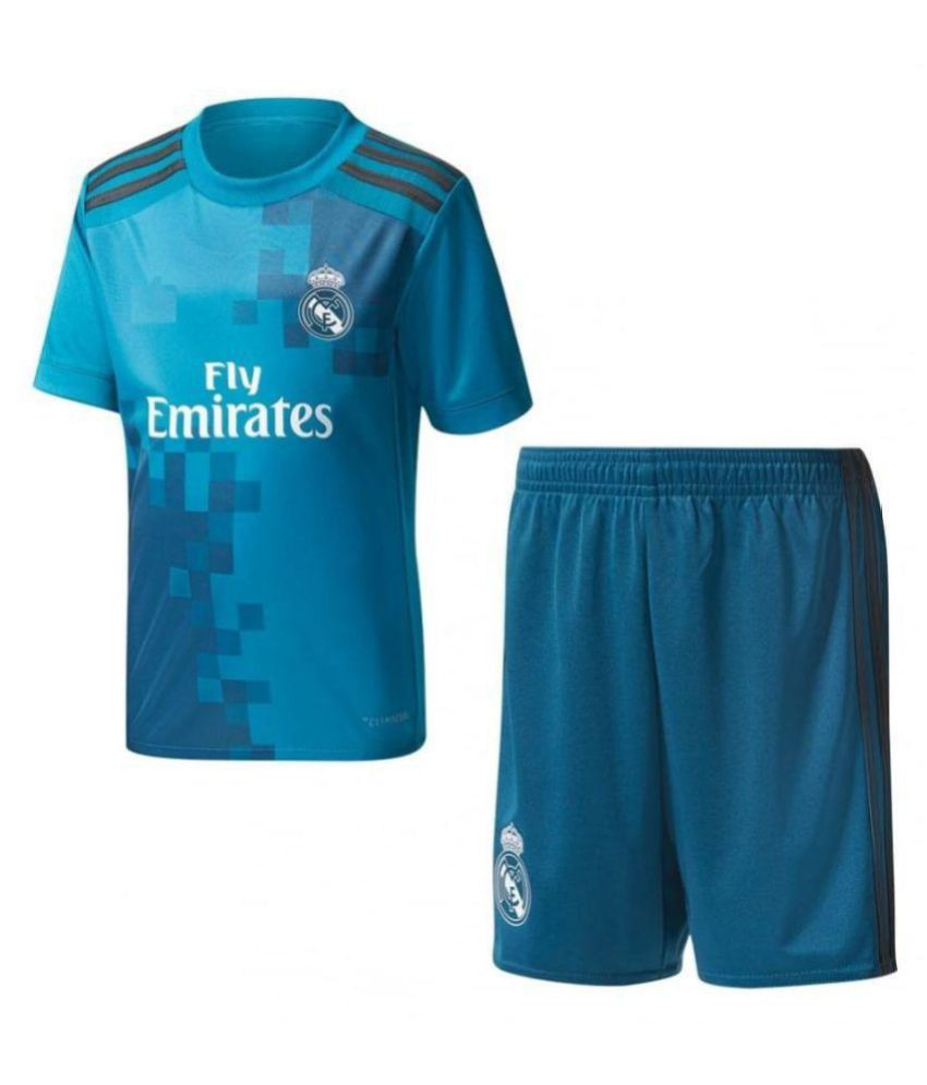 save off d1c81 dd9c6 Marex Real Madrid 3rd Football Jersey With Shorts Blue Color